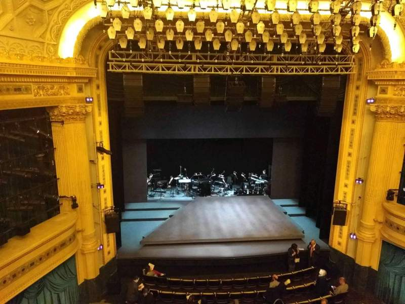 Seating view for Hudson Theatre Section Balcony C Row A Seat 103