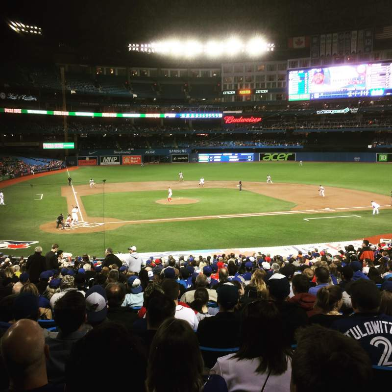 Seating view for Rogers Centre Section 119R Row 36 Seat 7