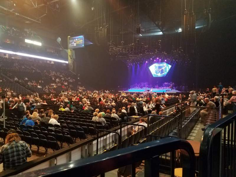 Seating view for Bridgestone Arena Section 103 Row FF Seat 4