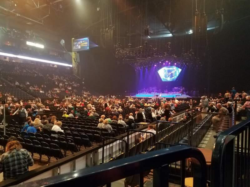 Bridgestone Arena, section: 103, row: FF, seat: 4