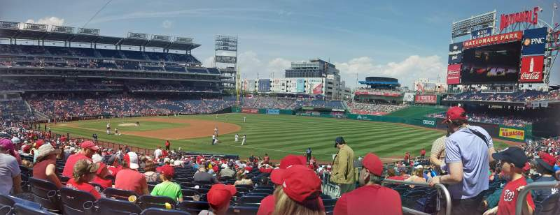 Seating view for Nationals Park Section 133 Row KK Seat 1