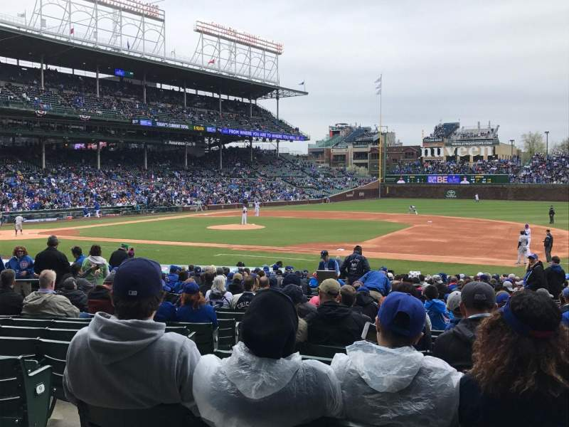 Seating view for Wrigley Field Section 126 Row 13 Seat 1-4
