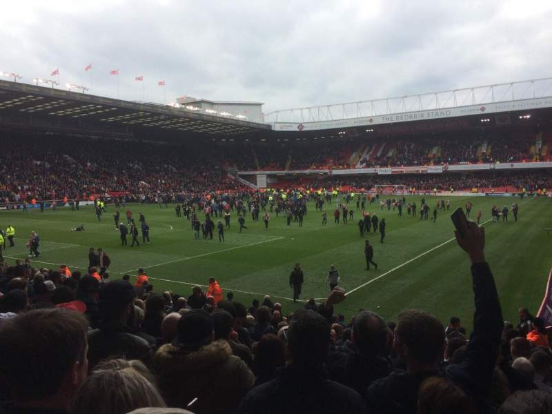 Seating view for Bramall Lane Section G Row O Seat 185