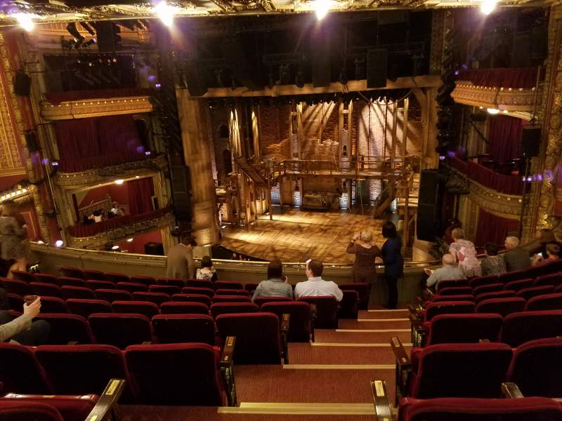 Seating view for PrivateBank Theatre Section Mezzanine R Row J Seat 2