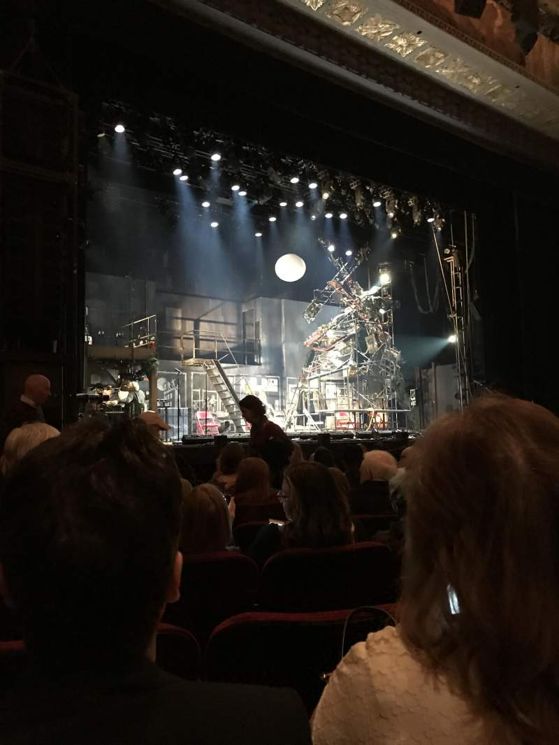Seating view for Hollywood Pantages Theatre Section Orchestra LC Row J Seat 311