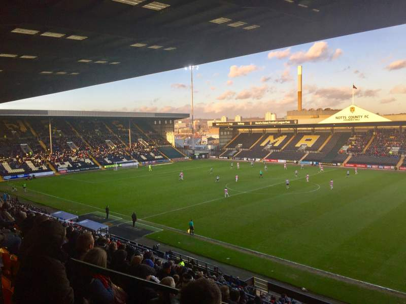 Seating view for Meadow Lane Section Derek Pavis Stand block A