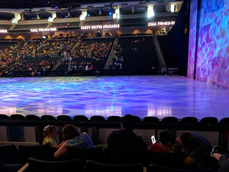 Seating view for Infinite Energy Arena Section 106 Row D Seat 8