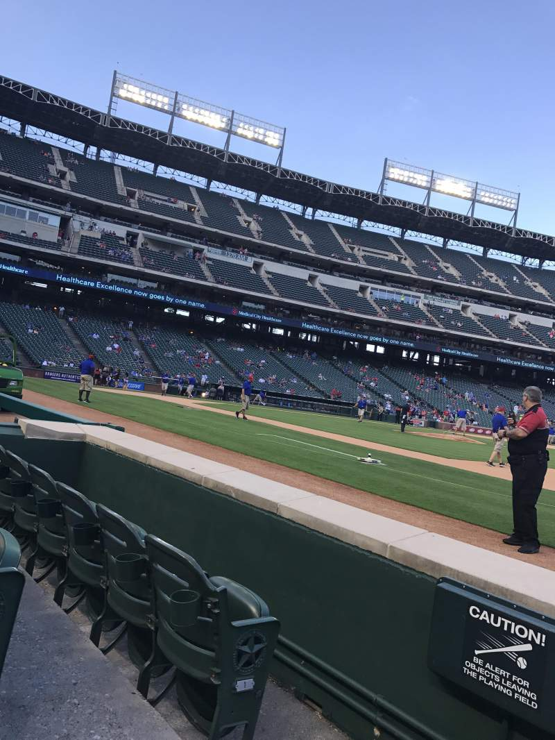 Seating view for Globe Life Park in Arlington Section 35 Row 2 Seat 6