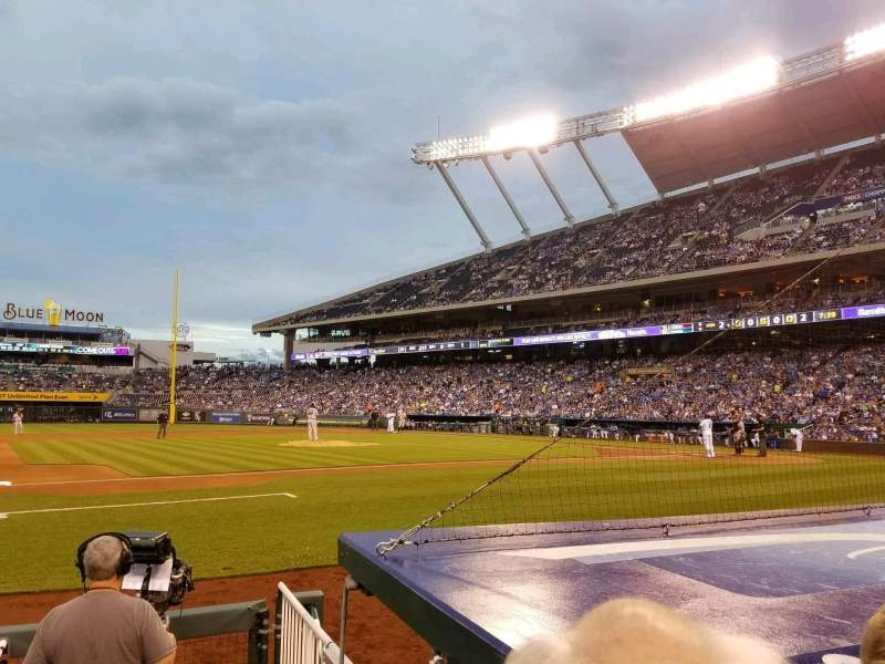 Seating view for Kauffman Stadium Section 119 Row B Seat 7