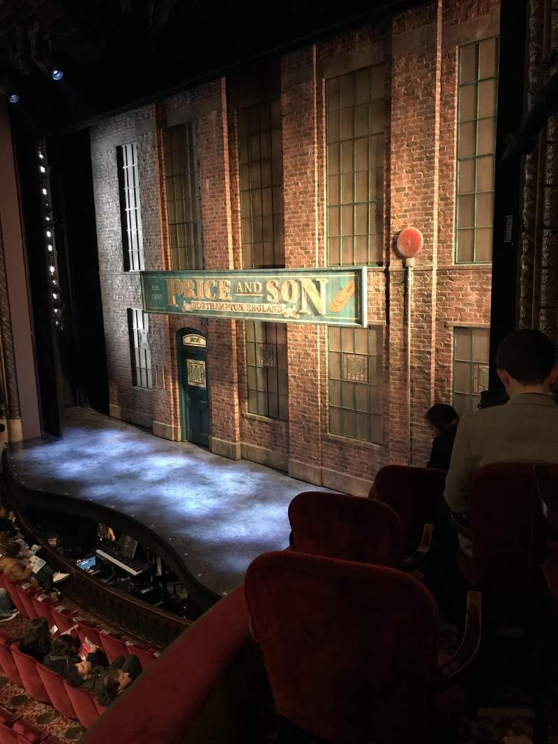 Seating view for Al Hirschfeld Theatre Section Right box Row F Seat 13