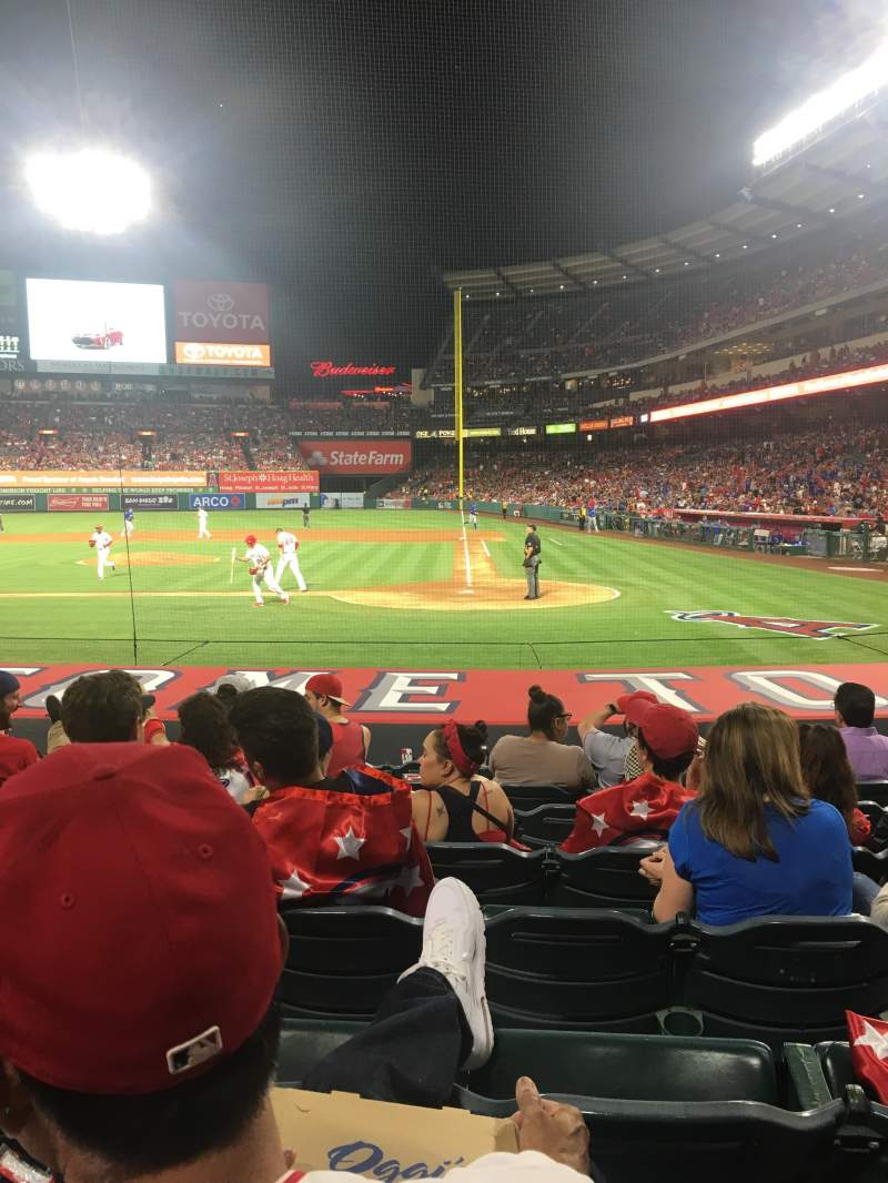 Seating view for Angel Stadium Section Diamond Club 114 Row K Seat 8