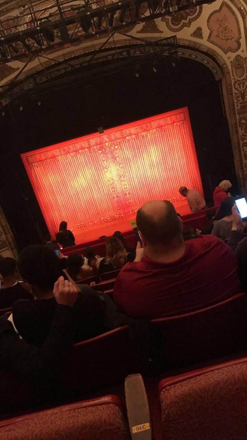Seating view for Cadillac Palace Theater Section Balcony C Row K Seat 316