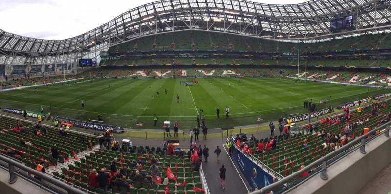 Seating view for Aviva Stadium Section 327 Row 2