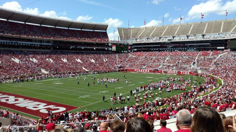 Bryant-Denny Stadium, section: AA, row: 40, seat: 13