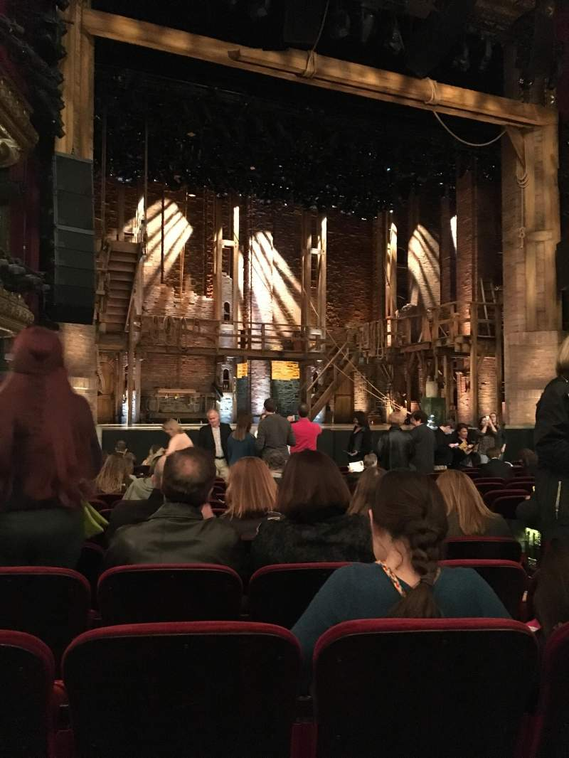 Seating view for CIBC Theatre Section Orchestra L Row Q Seat 7