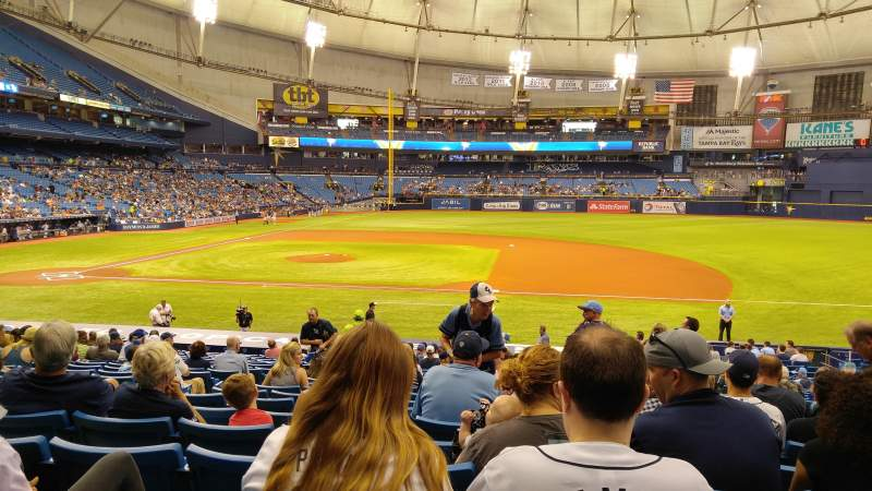 Seating view for Tropicana Field Section 118 Row EE Seat 6