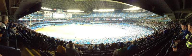 Seating view for Rogers Centre Section 232R Row 11 Seat 2