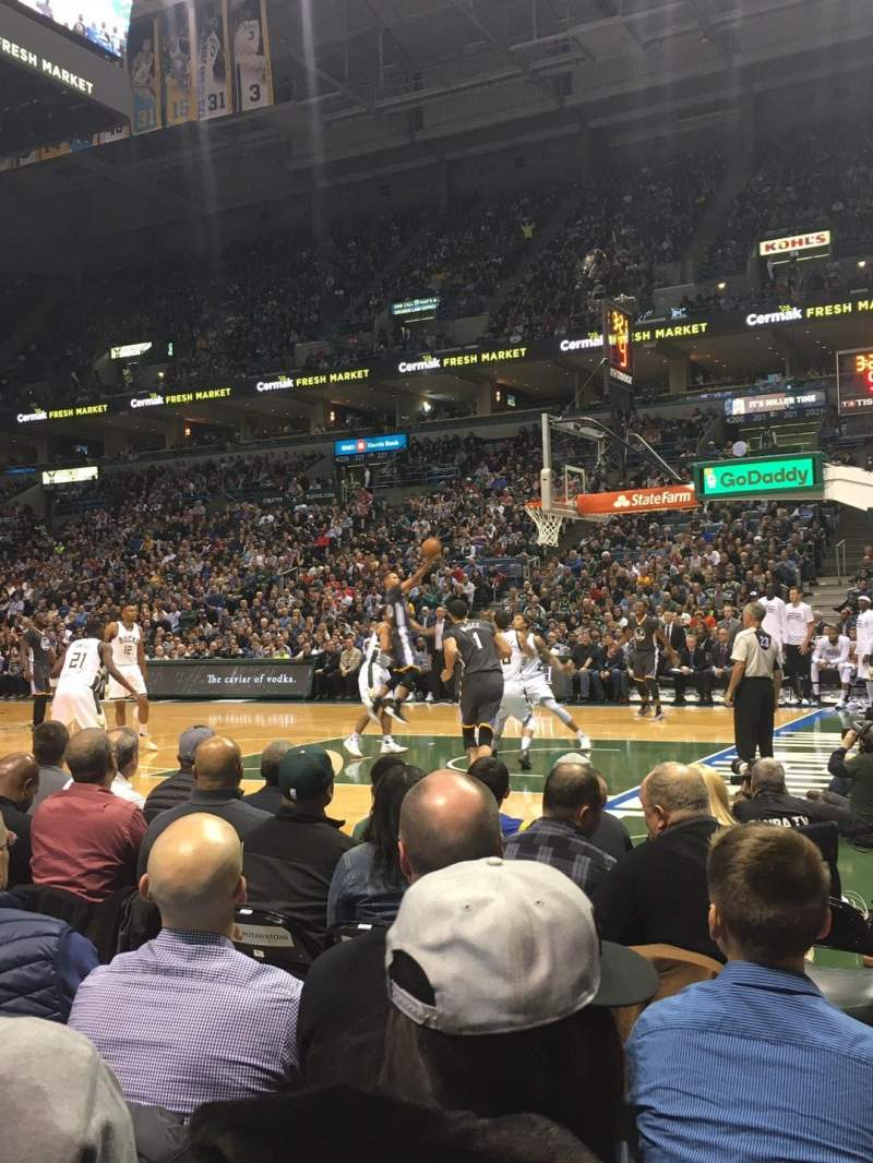 Seating view for BMO Harris Bradley Center Section 212 Row A Seat 5