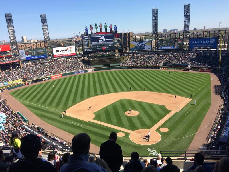 Seating view for Guaranteed Rate Field Section 534 Row 12 Seat 6