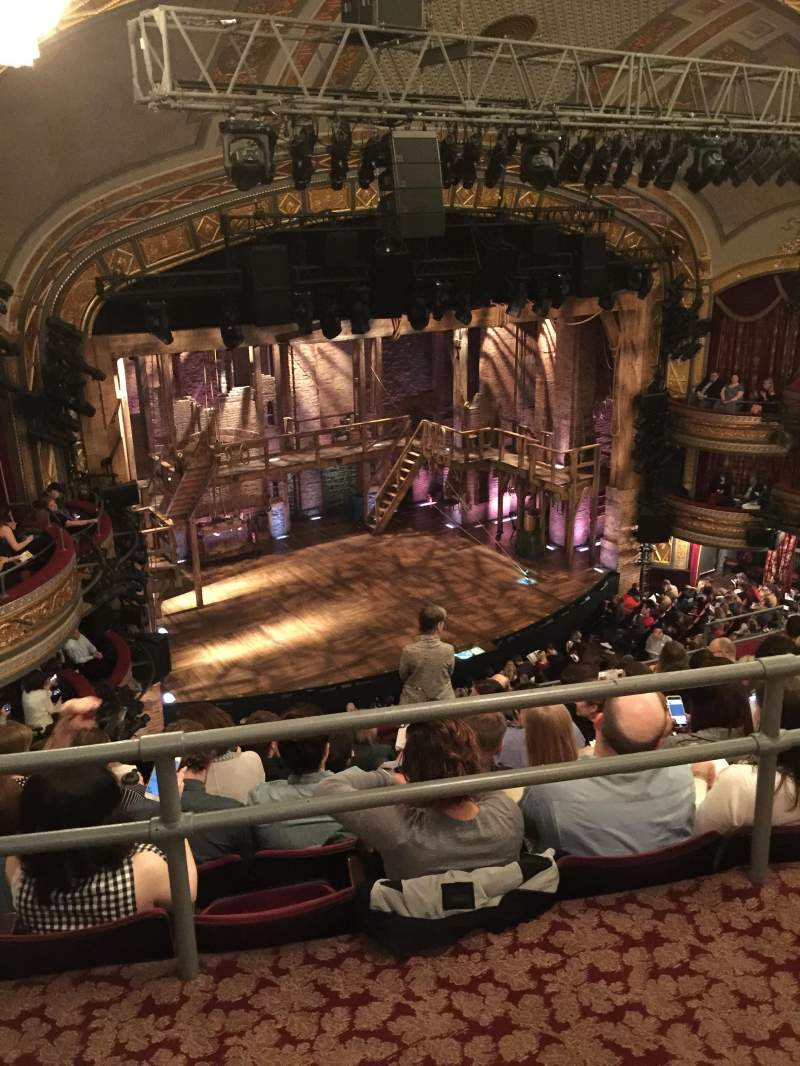 Seating view for Richard Rodgers Theatre Section Rear Mezzanine L Row G Seat 27
