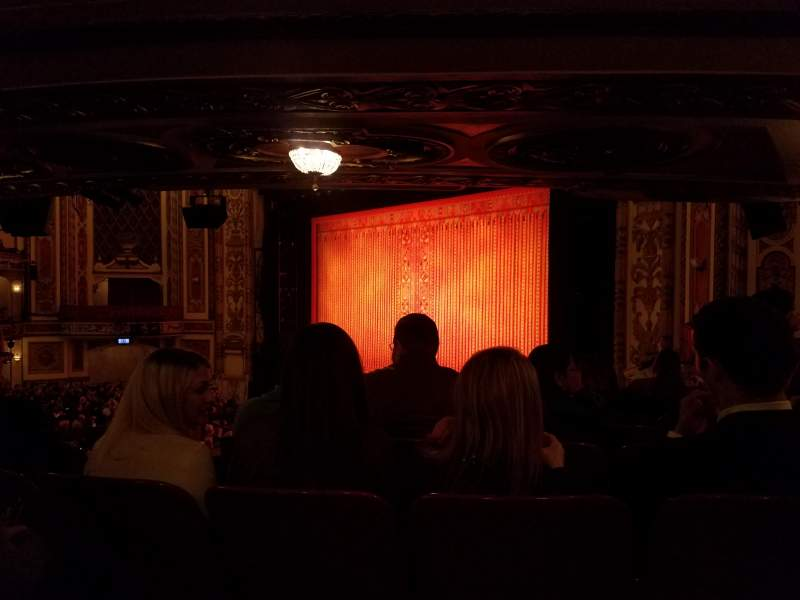 Seating view for Cadillac Palace Theater Section Dress Circle FR Row HH Seat 14