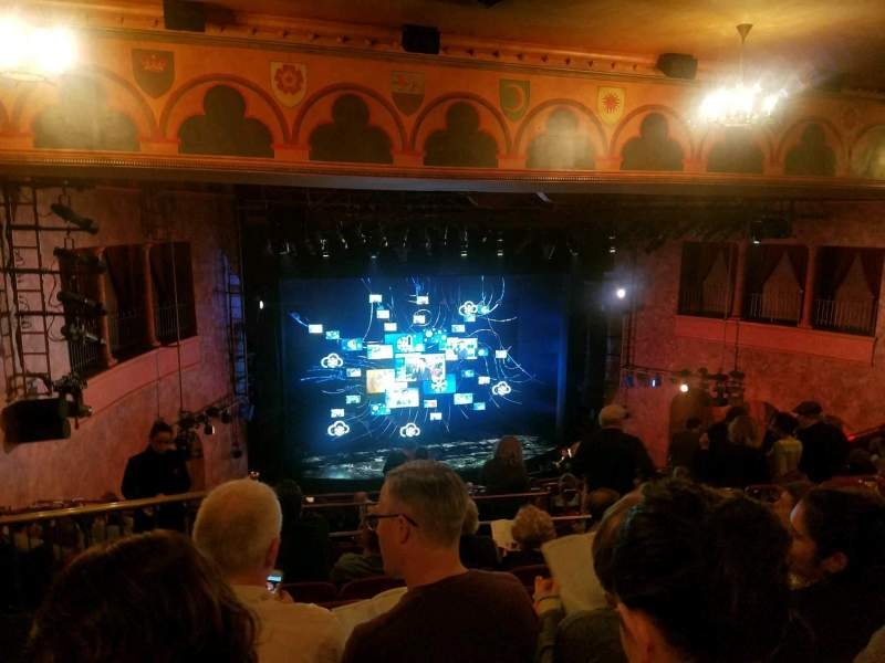Seating view for August Wilson Theatre Section Mezzanine L Row N Seat 13