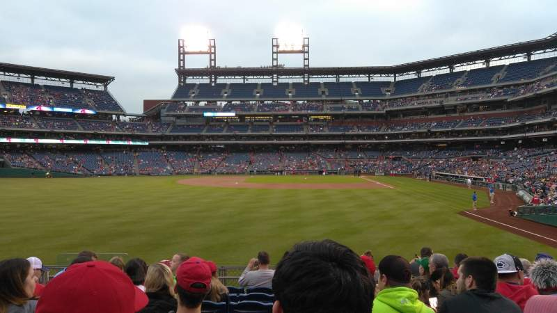 Seating view for Citizens Bank Park Section 142 Row 9 Seat 14