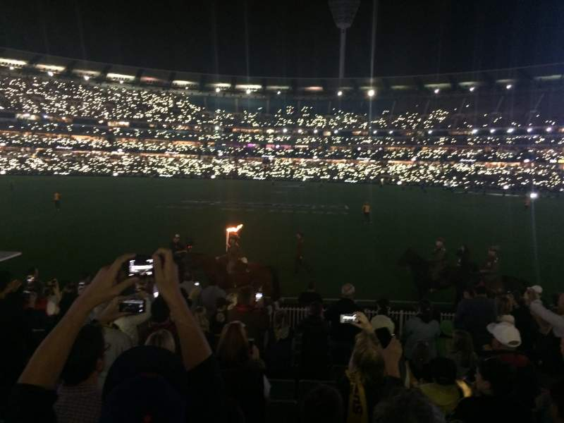 Seating view for Melbourne Cricket Ground Section M46 Row O Seat 9
