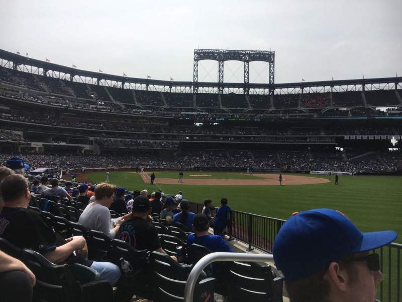Seating view for Citi Field Section 105 Row 14 Seat 2