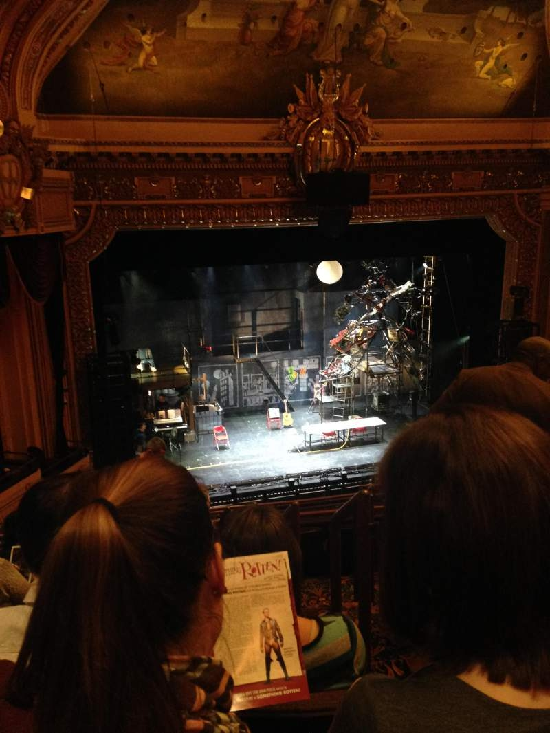 Seating view for Hippodrome Theatre Section Left Mezzanine Row J Seat 203
