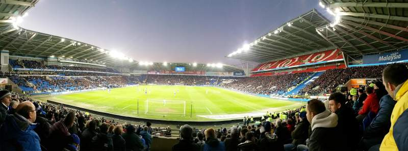 Seating view for Cardiff City Stadium