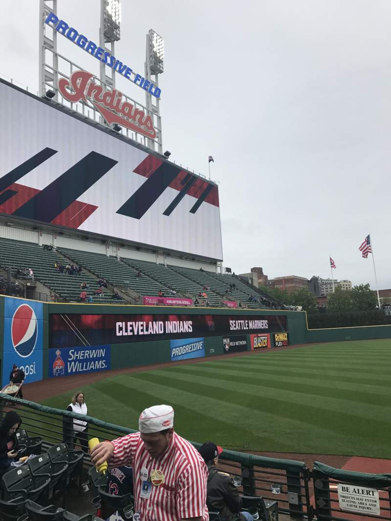 Seating view for Progressive Field Section 174 Row G Seat 9
