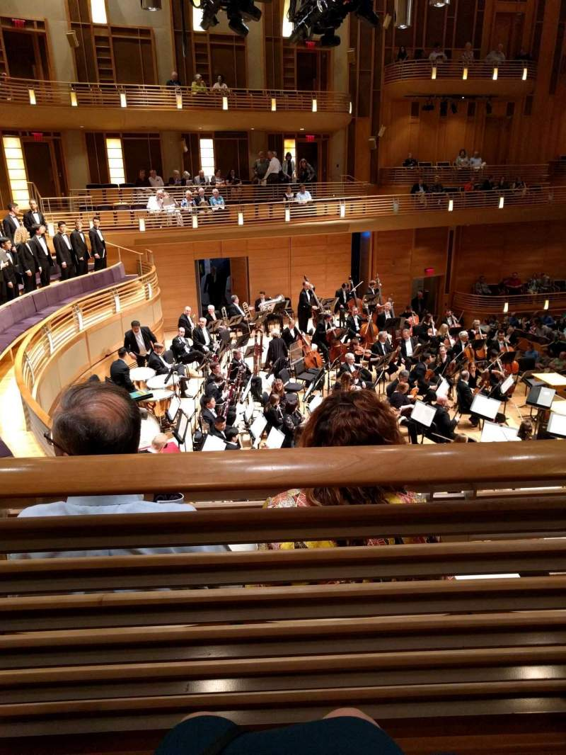 Seating view for The Music Center at Strathmore Section Promenade Front Left Row B Seat 9