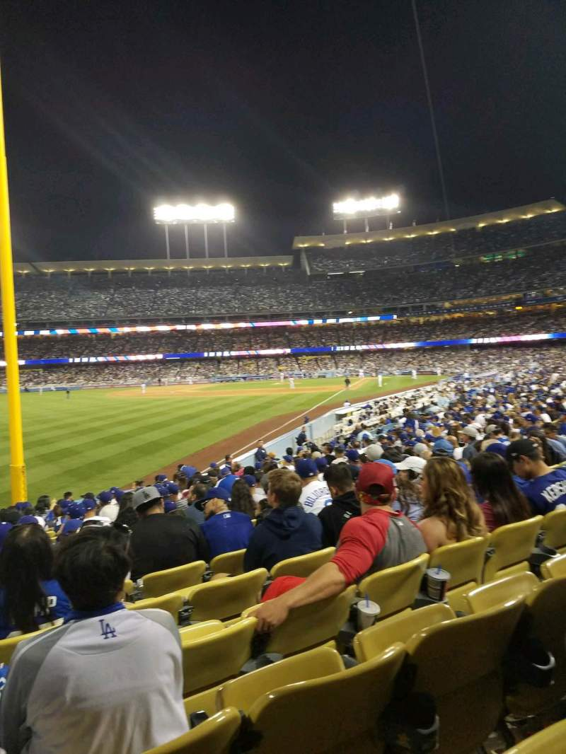 Seating view for Dodger Stadium Section 49FD Row R Seat 20