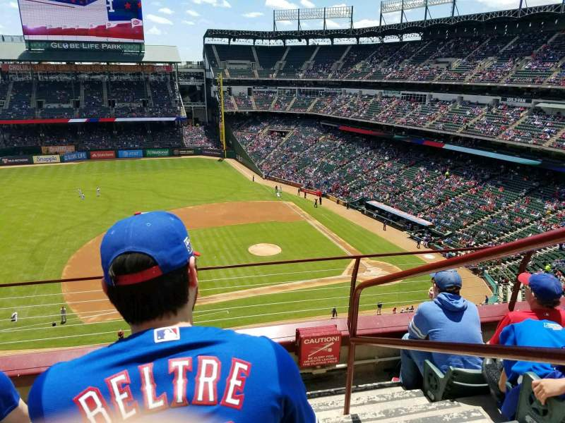 Globe Life Park in Arlington, section: 319, row: 4, seat: 18