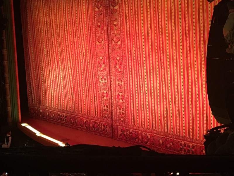 Seating view for New Amsterdam Theatre Section Mezzanine R Row BB Seat 28