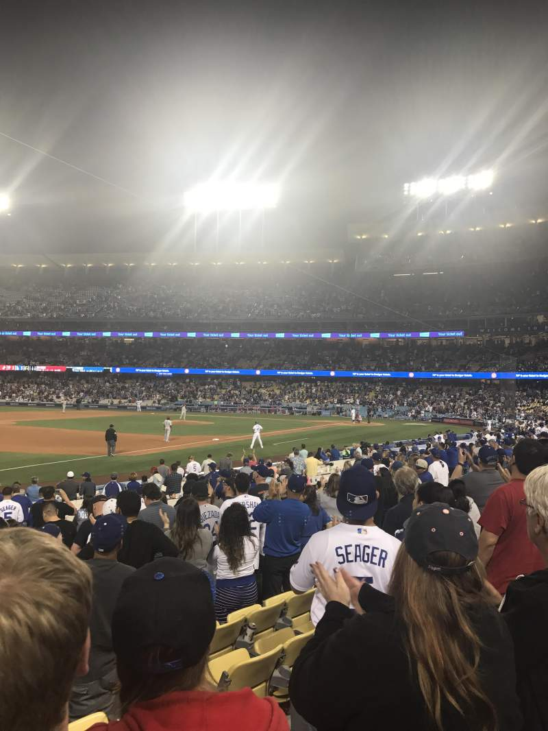 Seating view for Dodger Stadium Section 37FD Row M Seat 5,6