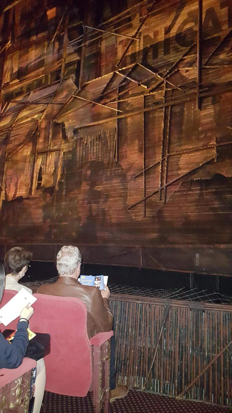 Seating view for Broadway Theatre - 53rd Street Section Orchestra R Row D Seat 3