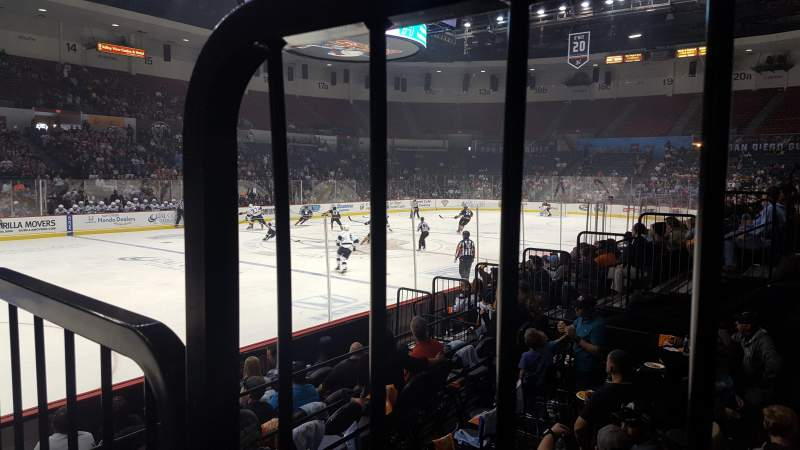 Seating view for Pechanga Arena Section Ll4 Row 8 Seat 1