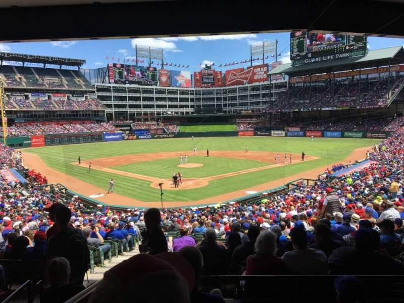 Seating view for Globe Life Park in Arlington Section 127 Row 36 Seat 3