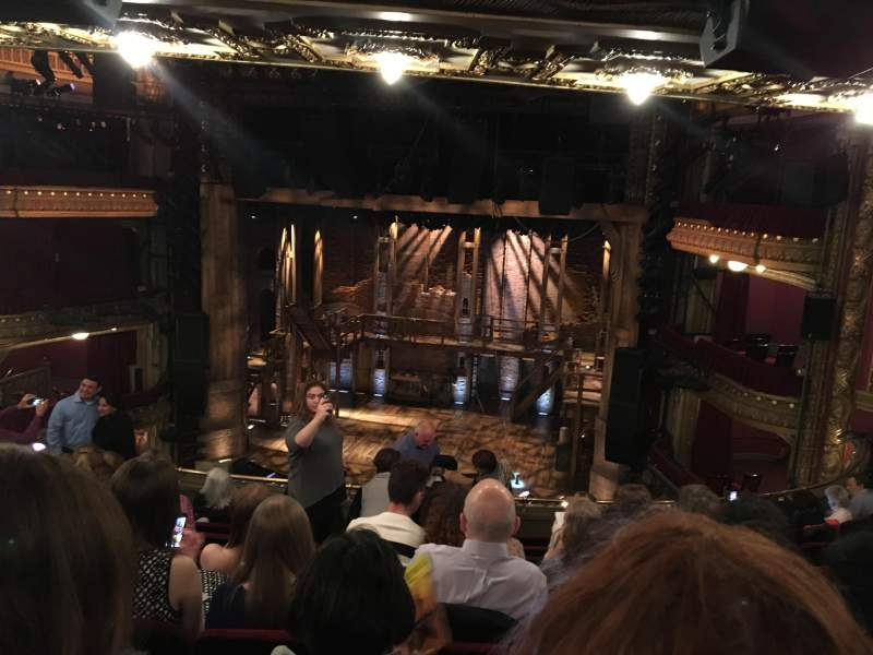 Seating view for PrivateBank Theatre Section Mezzanine RC Row J Seat 320