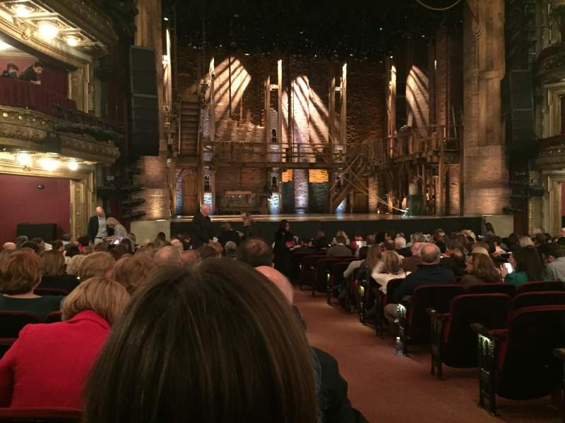 Seating view for PrivateBank Theatre Section orchestra l Row s Seat 1