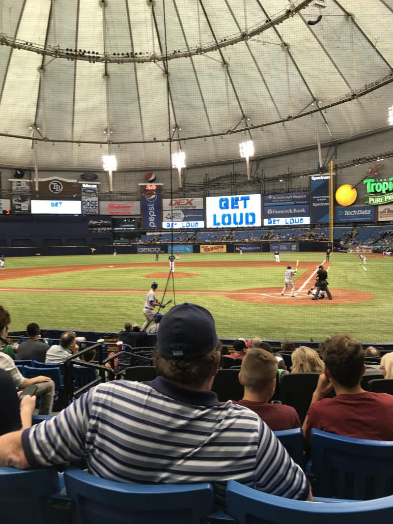 Seating view for Tropicana Field Section 107 Row P Seat 5