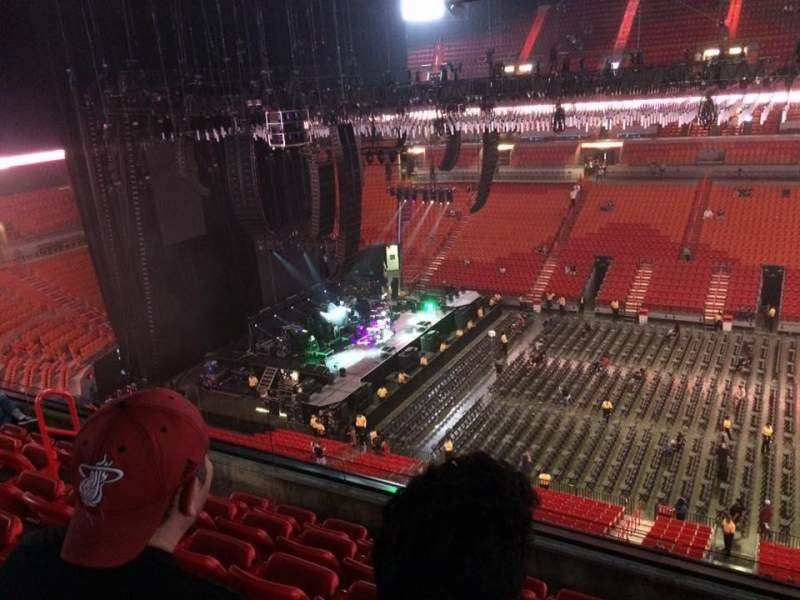 Seating view for American Airlines Arena Section 324 Row 6 Seat 3