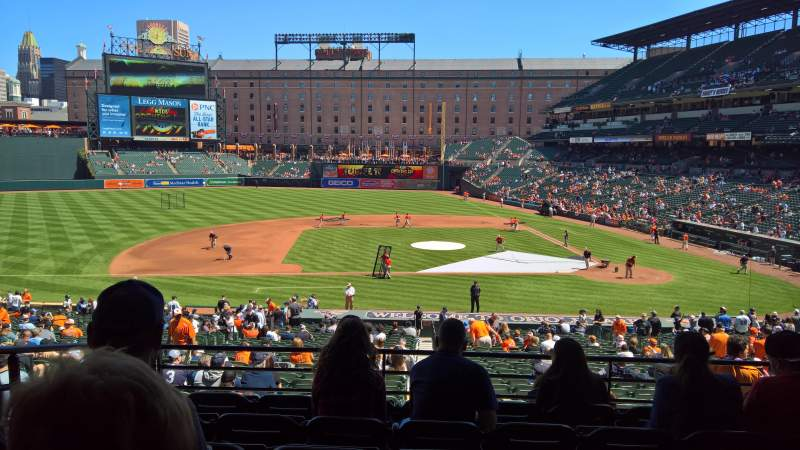 Seating view for Oriole Park at Camden Yards Section 49 Row 6 Seat 18