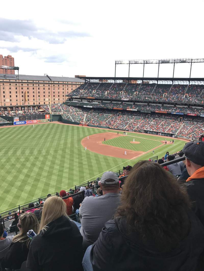 Oriole Park At Camden Yards Section 372 Row 20 Seat 4
