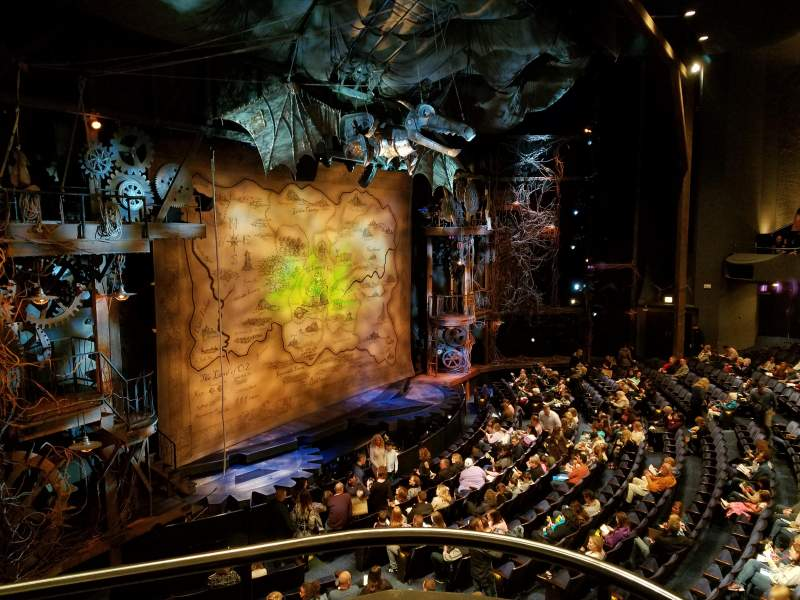 Gershwin Theatre, section: Front Mezzanine L, row: BB, seat: 3