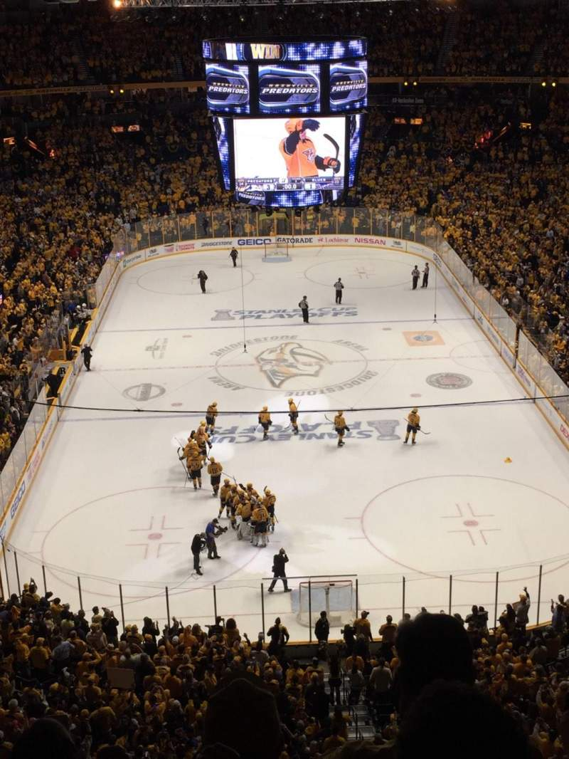 Seating view for Bridgestone Arena Section 301 Row E Seat 14