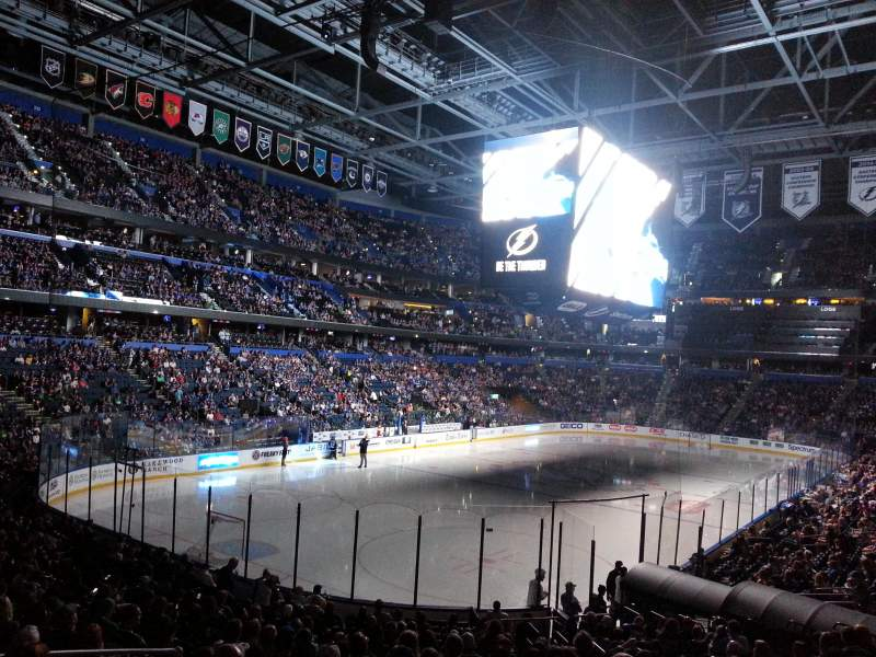 Amalie Arena, section: 122, row: X, seat: 7