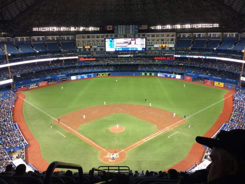 Seating view for Rogers Centre Section 524BR Row 21 Seat 1